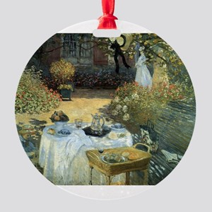 The Luncheon by Claude Monet Round Ornament
