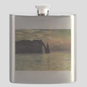 Claude Monet, Cliff Etretat Sunset Flask