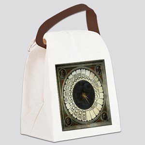 Clock in the Duomo by Uccello Canvas Lunch Bag