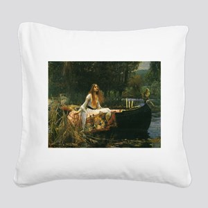 Lady of Shalott by JW Waterhouse Square Canvas Pil