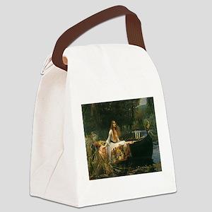 Lady of Shalott by JW Waterhouse Canvas Lunch Bag