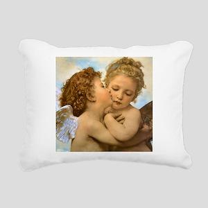 First Kiss by Bouguereau Rectangular Canvas Pillow