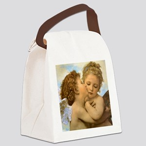 First Kiss by Bouguereau Canvas Lunch Bag