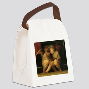 Cherubs Reading by Fiorentino Canvas Lunch Bag