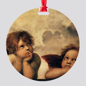Angels by Raphael Round Ornament