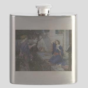 Annunciation by JW Waterhouse Flask
