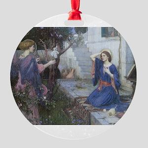 Annunciation by JW Waterhouse Round Ornament