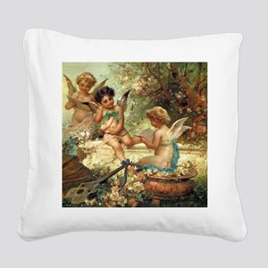 Victorian Angels by Zatzka Square Canvas Pillow