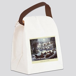 Central Park in Winter Canvas Lunch Bag