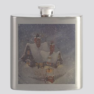 Vintage Christmas North Pole Flask
