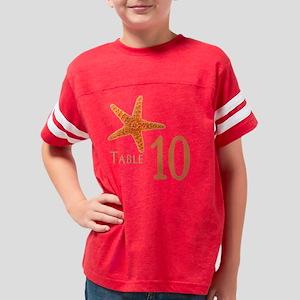 Starfish Tile 010 Youth Football Shirt