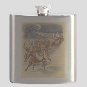 Vintage Christmas Santa Claus Flask