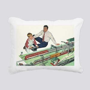 Vintage Father and Son Rectangular Canvas Pillow