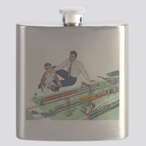 Vintage Father and Son Flask