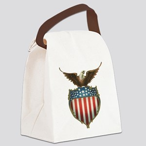 Vintage 4th of July Canvas Lunch Bag