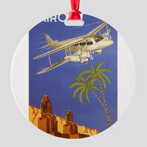 Vintage Travel Poster Cairo Egypt Round Ornament