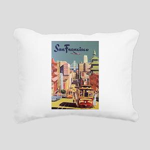 Vintage Travel Poster San Francisco Rectangular Ca
