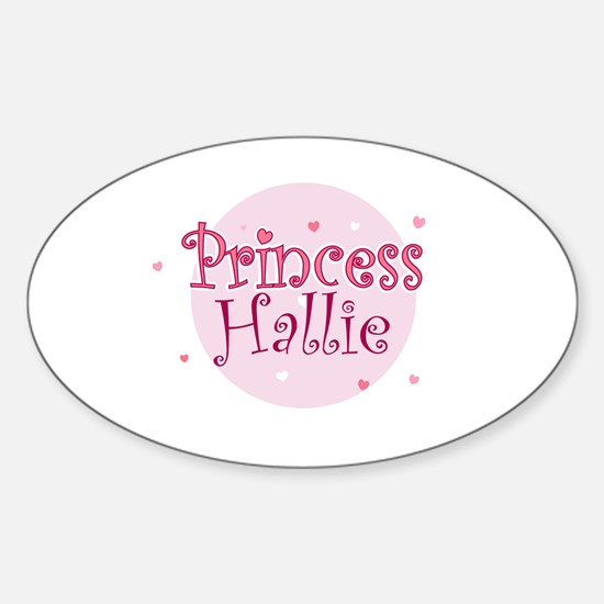 Hallie Oval Stickers