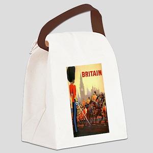 Vintage Travel Poster, Britain Canvas Lunch Bag