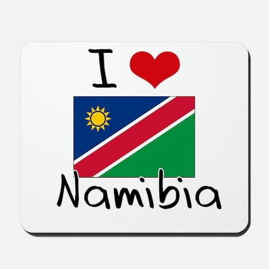 I HEART NAMIBIA FLAG Mousepad