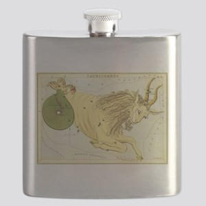 Vintage Celestial Zodiac, Capricorn Flask