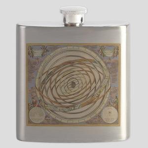 Vintage Celestial, Planetary Orbits Flask