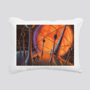 Vintage Science Fiction Planet Rectangular Canvas