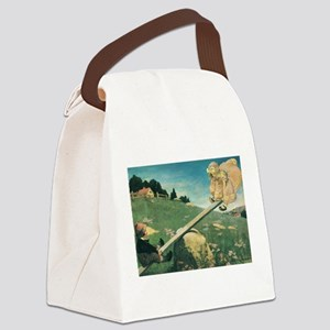 Vintage Nursery Rhymes Canvas Lunch Bag