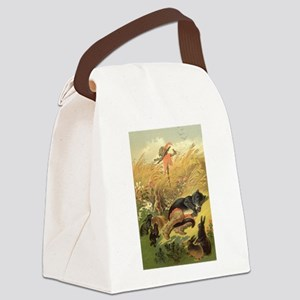 Vintage Puss n Boots Canvas Lunch Bag