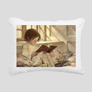 Vintage Books in Winter, Child Reading Rectangular