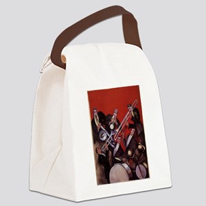 Vintage Music, Art Deco Jazz Canvas Lunch Bag