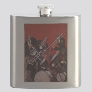Vintage Music, Art Deco Jazz Flask