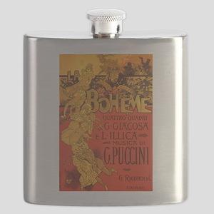 Vintage La Boheme Opera Flask