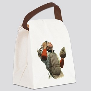 Vintage Sports Baseball Canvas Lunch Bag