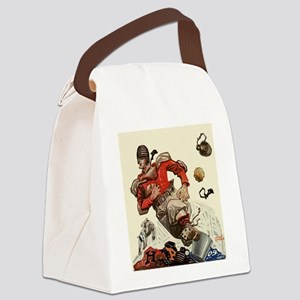 Vintage Sports Football Canvas Lunch Bag