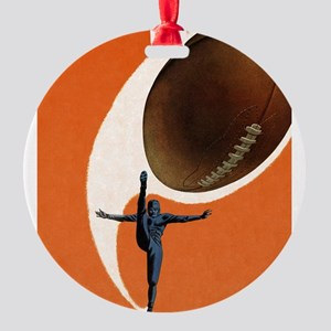 Vintage Sports Football Round Ornament