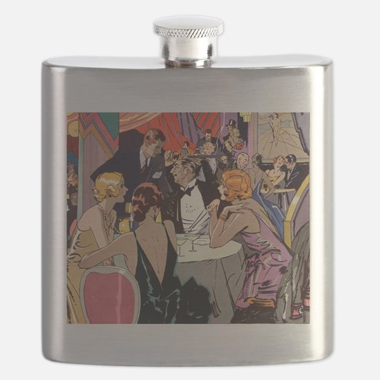 Vintage Cocktail Party Flask