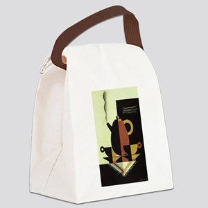 Vintage Coffee Canvas Lunch Bag