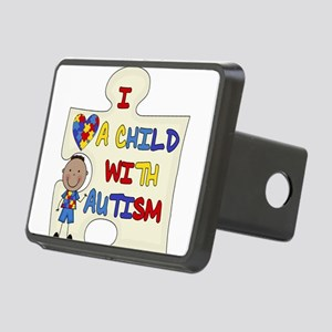 African American Boy Child With Autism Hitch Cover