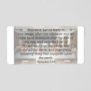 Genesis 1:26 Aluminum License Plate