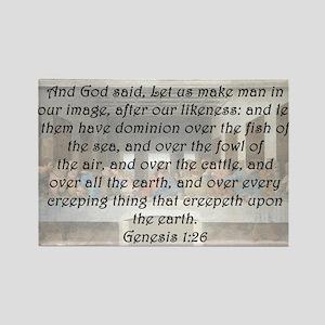 Genesis 1:26 Rectangle Magnet