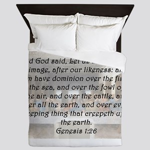 Genesis 1:26 Queen Duvet