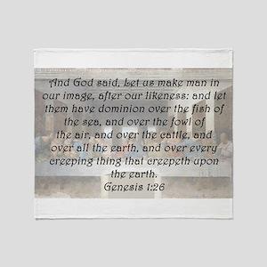 Genesis 1:26 Throw Blanket