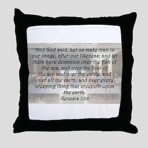 Genesis 1:26 Throw Pillow