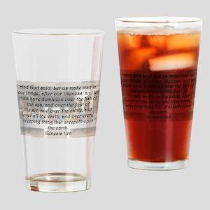 Genesis 1:26 Drinking Glass