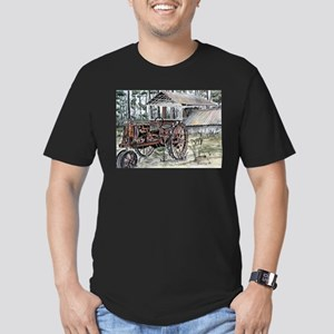 farm tractor folk art print T-Shirt