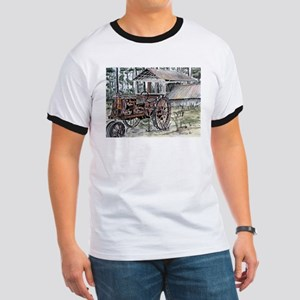 farm tractor folk art print T-Shirt
