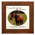 Beautiful Horse and Poem Framed Tile
