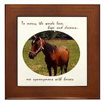 Beautiful Horse and Poem Framed Tile