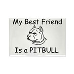 My Best Friend- Pitbull Rectangle Magnet (10 pack)